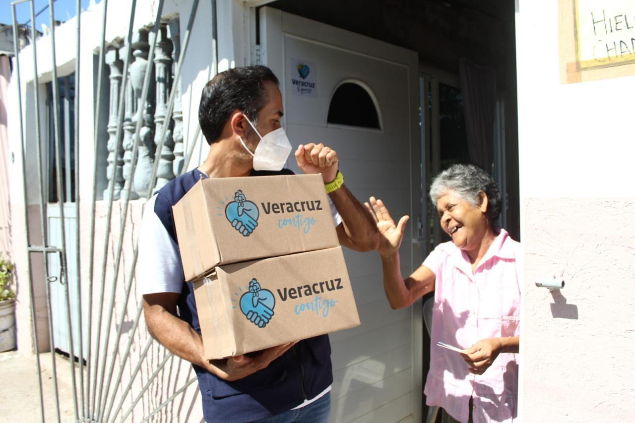 Suman 300 mil apoyos alimentarios entregados por el Ayuntamiento de Veracruz, de octubre a la fecha