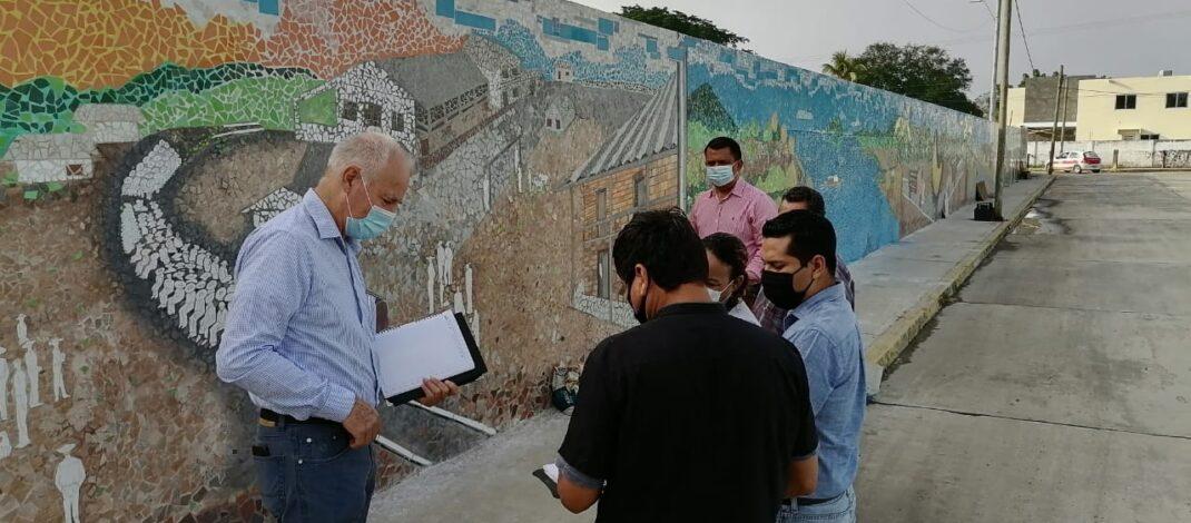 JORGE VERA HERNÁNDEZ ANUNCIA PRÓXIMA INAUGURACIÓN DEL GRAN MURAL PERIMETRAL, QUE DETALLA LA HISTORIA DE ÁLAMO TEMAPACHE.